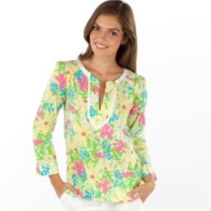 Lilly Pulitzer Thandie Tunic Blue Eyed Girl Print